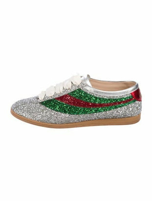 Gucci 2017 Falacer Glitter Bowler Sneakers Metallic