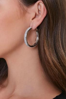 Forever 21 Glitter Hoop Earrings