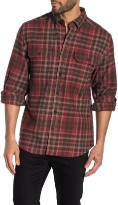 Wolverine Glacier Plaid Flannel Regular Fit Shirt