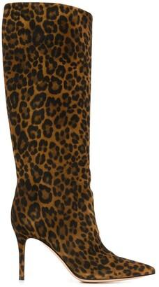 Gianvito Rossi Leopard-Print Boots