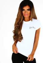 Pink Boutique Girl Boss White Slogan T-Shirt