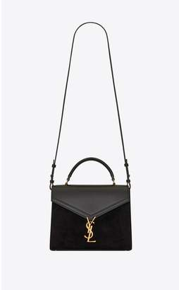 Saint Laurent Cassandra Medium Top-Handle Bag In Smooth Leather And Suede