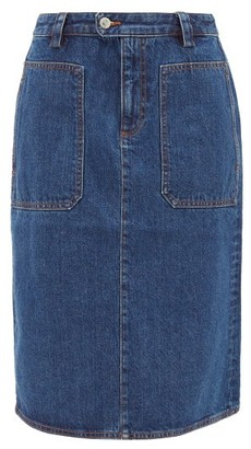 A.P.C. Nevada Denim Skirt - Denim