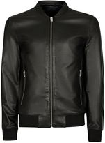 Selected Homme Black Leather Jacket