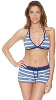 Splendid Chambray Cottage Halter Bikini Top