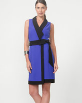 Le Château Colour Block Double Weave Wrap Dress