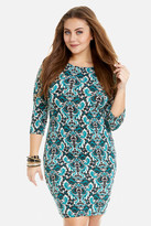 Fashion to Figure Isabella Scroll Print Bodycon Dress