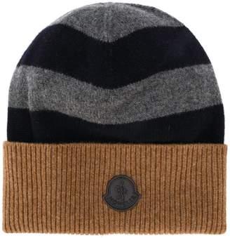 Moncler striped colour block hat