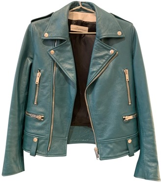 Golden Goose Turquoise Leather Jackets