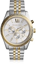 Michael Kors Lexington Two Tone Stainless Steel Men's Chrono Watch