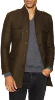 The Kooples Men's Wool Stand Collar Coat