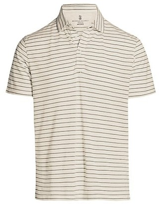 Brunello Cucinelli Horizontal Stripe Polo