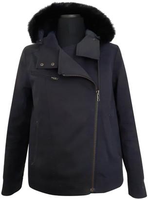 Comptoir des Cotonniers Navy Cotton Coats
