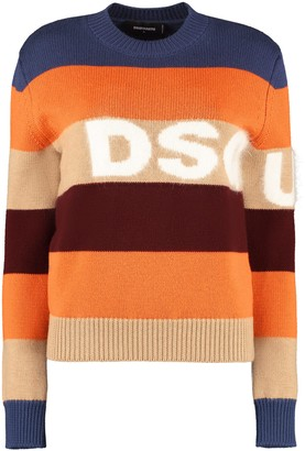 DSQUARED2 Striped Wool Pullover