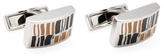 Canali Geometric Rectangular Cufflinks