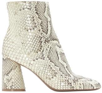 Mercedes Castillo Tomara Snakeskin-Embossed Leather Ankle Boots