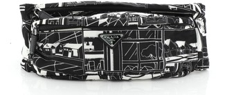 Prada Zip Waist Bag Printed Tessuto Small