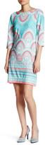 Taylor 3/4 Sleeve Jersey Print Shift Dress