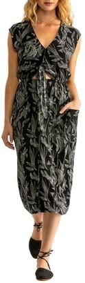 Tavik Jude Printed Cutout Midi Dress