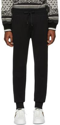 Dolce & Gabbana Black Logo Plaque Sweatpants