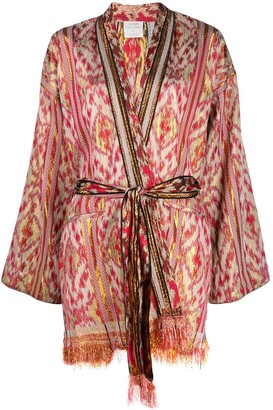 Forte Forte Abstract Print Kimono Jacket