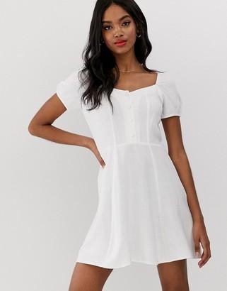New Look prairie dress in white-Cream