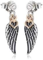 Pandora Women 9 k (375) Silver Zircon Earrings