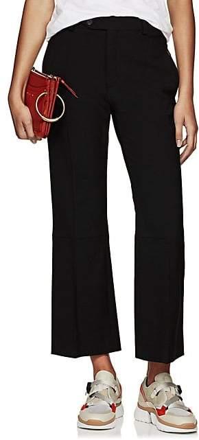 Chloé Women's Wool Flared Ankle Trousers - Black