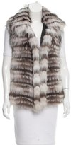 Yves Salomon Two-Tone Fox Fur Vest