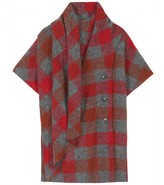 Thakoon SHORT-SLEEVED PLAID JACKET WITH SCARF WRAP