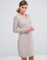 Coast Bella Dress in Sequin with Plunge Neck