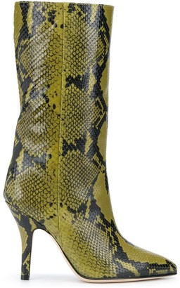 Paris Texas Snakeprint Pointed Boots