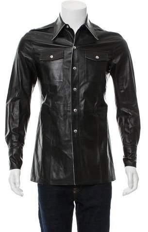 Calvin Klein Leather Shirt Jacket w/ Tags