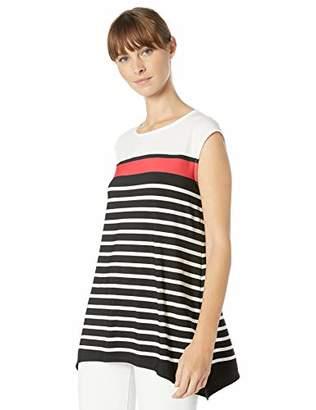 Calvin Klein Women's Sleeveless Sharkbite Stripe TOP