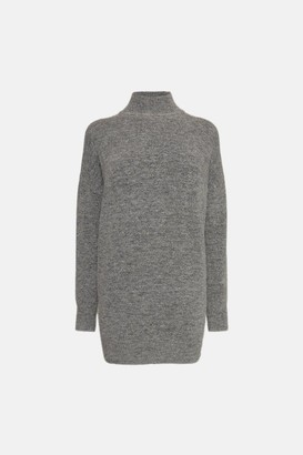 Karen Millen Super Soft And Cosy Longline Roll Neck Jumper