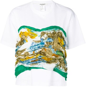 Junya Watanabe gathered printed panel T-shirt