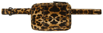 Dries Van Noten Brown and Black Leopard Pouch