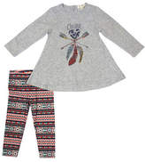Jessica Simpson Toddler s Two-Piece Cotton Flared Top & Leggings Set