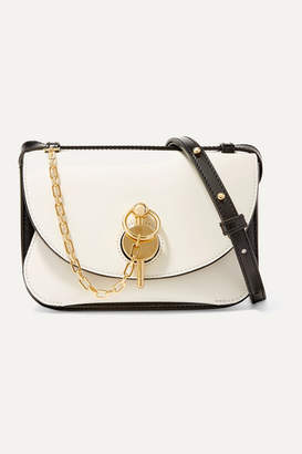 J.W.Anderson Keyts Small Two-tone Glossed-leather Shoulder Bag - White