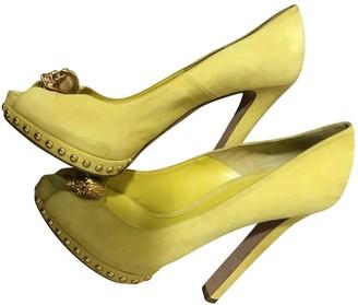 Alexander McQueen Yellow Suede Heels