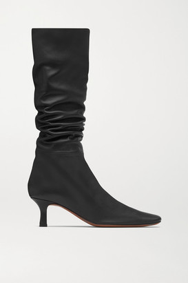 Neous Cynis Leather Knee Boots - Black
