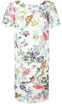 I'M Isola Marras floral embroidered dress - women - Cotton/Polyester/Acetate/Spandex/Elastane - 42
