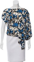 Robert Rodriguez Printed Silk Top