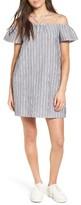 Lush Women's Stripe Off The Shoulder Dress