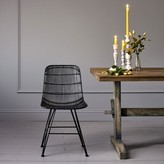 Graham and Green Rattan Dining Chair In Black