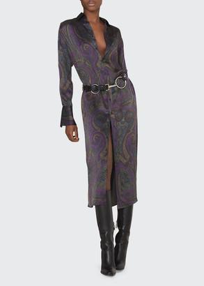 Ralph Lauren Aryanna Paisley-Print Silk Shirtdress
