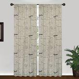 Park B. Smith Script 84-Inch Window Curtain Panel in Linen/Black