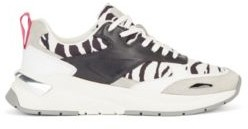HUGO BOSS Hybrid trainers with zebra-print detailing