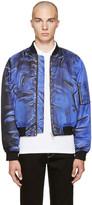 Moschino Blue Drawing Bomber Jacket