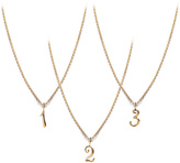 Lulu Frost Code Number Necklace - 14K Gold